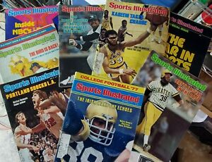 Sports Illustrated Lot of 8 1977 Issues Reggie Jabbar Notre Dame Yankees Vintage
