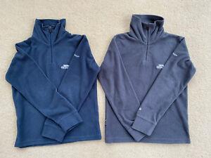 Lot of 2 Trespass Navy/Grey Half Zip Fleeces for Boys Or Girls Age 5-6 Years