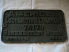 1945 American Locomotive Co. (ALCO) Builder's Plate
