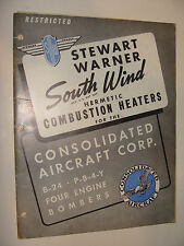 Stewart-Warner Southwind  Combustible Heater Service manual Aircraft 1942 WWII
