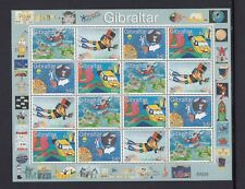 GIBRALTAR 2000 Children's Stamp Design Competition 7.68 Pounds block of 16 MNH