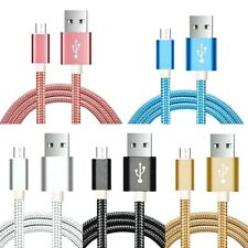 New 2M Heavy Duty Nylon Braided Micro USB Cable Fast Charger for Android Phones