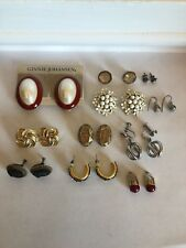 Vintage To Now Earring Lot Wearable Some Signed EUC Mazer Marino Charel
