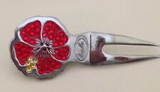Swarovki Chrystal Divot Tool Red Hibiscus