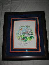 CHARLES FAZZINO Florida Gators UF Hand Pop Art ONE OF KIND RARE 17x20 FRAMED