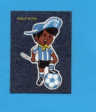 PANINI-JEAN'S FUSSBALL WM 78- GAUCHITO / MASCOTTE - SCUDETTO/BADGE -NEW