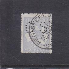 AUSTRALIA-1915-6d BLUE KANGAROO-(GREY BLUE)-PERF OS-DIE 2-3rd W/M-FINE USED