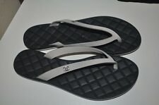 NIB CHANEL CC Logo Beige Suede Quilted Leather Thong Flip Flop Sandals Sz 35 - 5