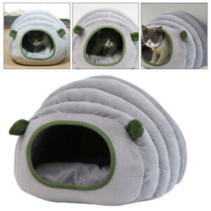 Puppy Pet Cat Dog Nest Bed Cozy Soft Warm Cave House Sleeping Bag Mat Pad Bed