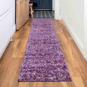 Shaggy Runner Rug Purple Lavender Soft Fluffy Bedroom Carpet Runners CLEARANCE