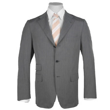 Caruso Suit Men's Grey with Singlebreasted Size 102 (Previously