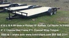2018 16 18 20 22 ft Car Hauler 7k Free LED Lights & 15 Radial Spare Limited Time