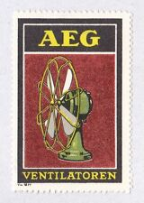 Orig Modernist Poster stamp AEG Desk Fan Peter BEHRENS c.1910 Industrial Design