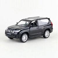 1:42 Toyota Land Cruiser Prado SUV Model Car Diecast Toy Vehicle Pull Back Black