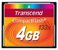 Tarjeta de memoria Flash de velocidad de 4 GB Transcend CompactFlash 133 x