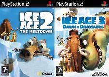 Âge de glace 2 la débâcle & Ice Age 3 Dawn of the Dinosaurs ps2 PAL