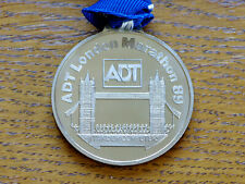 ADT London marathon finisher medal 1989 with ribbon