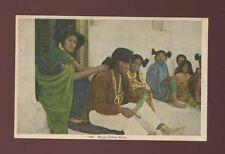 USA ethnic Native American MOQUI INDIAN Girls c1930/40s? PPC