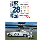 28 Fred Lorenzen 1965 Ford 1/64 scale decal AFX Tyco Lifelike