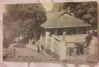 Vintage Old Photo Postcard of California Hot Springs Resort in Tulare County CA