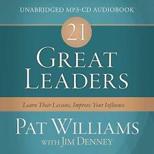 NEW 21 Great Leaders Audio (CD): Learn Their Lessons, Improve Your Influence by