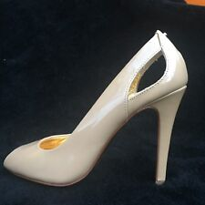TED BAKER nude pattern leather pip-toe stilettos shoes, size UK4