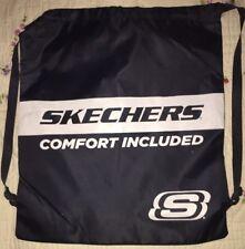"Skechers Blue Large Draw String Lightweight Bag 20x12"" Backpack"