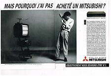 Publicité Advertising 1986 (2 pages) Hi Fi Magnetoscope TV Video Mitsubishi