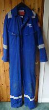 Worn/Used Blue Hi-Vis Portwest Flame Resistant Boiler Suit/Overalls - XL