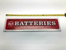 Vintage RCA Batteries Tin Advertising Sign for Transistor Radios