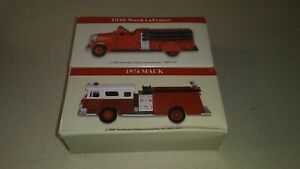 2 High Speed Readers Digest Fire Engines 1939 Ward LaFrance & 1974 Mack w/ Boxes