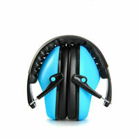 US Foldable Noise Reduction Shooting Hearing Protection Ear Muffs Blue Headset