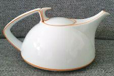 Rosenthal TAC Walter Gropius weiß mit Rand orange Teekanne mit Filter