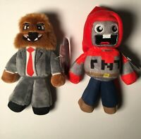 2 Lot: Brand New w/ Tags: TUBE HEROES Plush Exploding TNT & JeromeASF