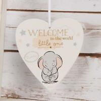 Disney Heart Plaque Welcome to the World Little One Baby Gift DI398