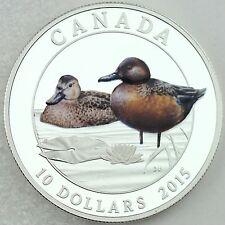Canada 2015 $10 Cinnamon Teal, Ducks of Canada Series, 1/2 oz. Pure Silver Proof