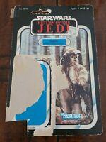 Star Wars Return Of The Jedi Logray (Ewoke Medicine Man) Cardback 80s ROTJ