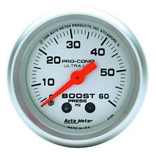 UNIVERSIAL DODGE FORD CHEVY AUTO METER 4305 ULTRA-LITE BOOST GAUGE..