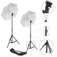 2x Kit d'éclairage Studio Trépied Douille Parapluie Sac pour Flash Cobra Esclave