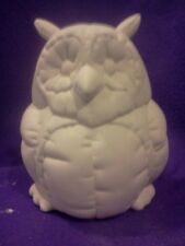 Ceramic bisque Kimple Softy Owl ready to paint