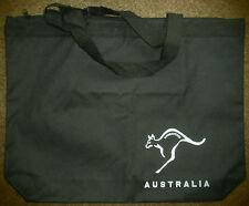 Tote Bag - Black. Australian Souvenir (Kangaroo)