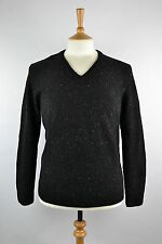 RRP£85 Mens lambswool donegal v black Jumper Sweater.M,L, Fisherman Ireland