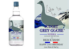 PERSONALISED GREY GOOSE FUNNY BIRTHDAY ANY OCCASION BOTTLE LABEL