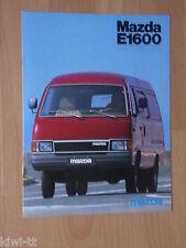 Mazda E 1600 Kastenwagen / Brückenwagen Prospekt /Depliant, CH (D), 6.1981