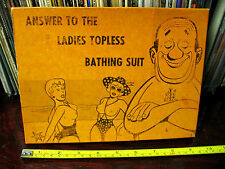 ANSWER  TO WOMEN'S TOPLESS SWIMSUIT - MEN'S BOTTOMLESS SWIMSUIT  !NO GAG !