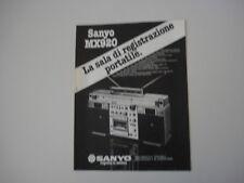 advertising Pubblicità 1981 STEREO SANYO MX920 MX 920