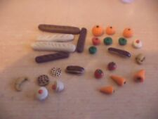HAND MADE DOLLS HOUSE FURNITURE MINIATURE FOOD KITCHEN grocery fruit bakery b