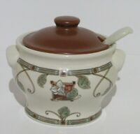 Pfaltzgraff Mission Flower  Small Soup Tureen with Lid and Ladle  USA