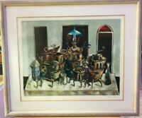 Legendary Yosl Bergner Limited (100 pc) signed large Lithography Framed W/glass