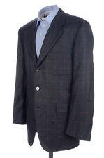 HOUSE OF BIJAN Gray Windowpane Check CASHMERE SILK Blazer Sport Coat Jacket 42 R
